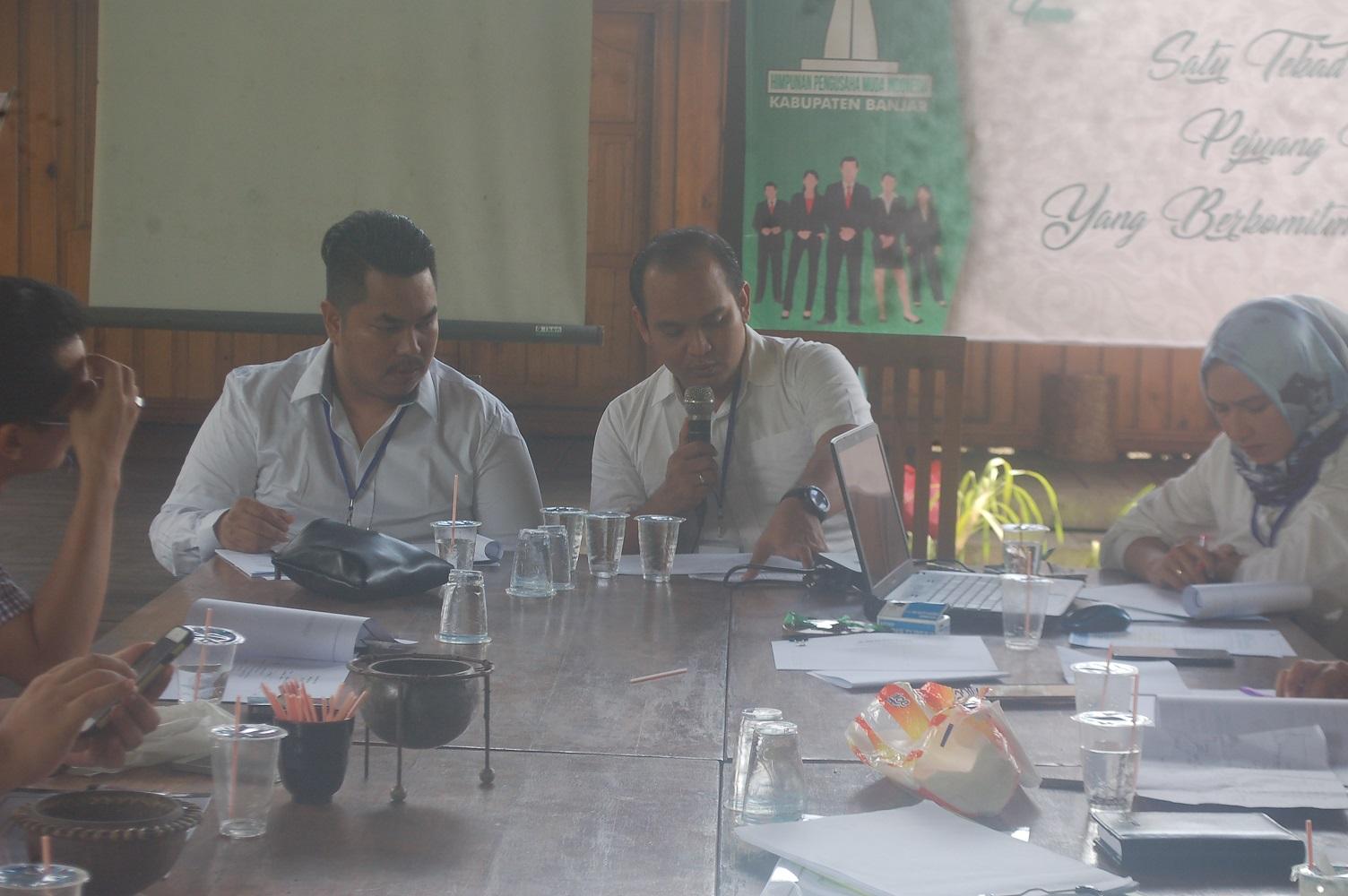 Mantapkan Program Kerja, Hipmi Banjar Rapat  di Loksado