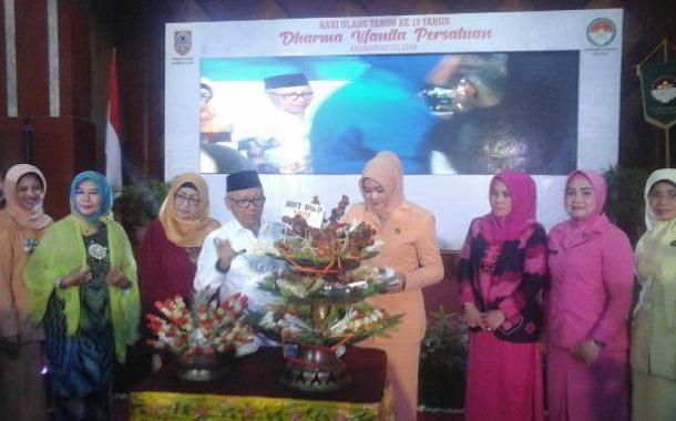 Dharma Wanita Prov Kalsel Rayakan HUT Ke-19