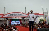 Di Hadapan Ribuan Simpatisan, Jokowi Janjikan Tol Banjarbaru- Batulicin