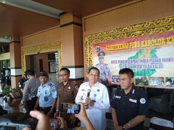 Polda Kalsel Bekuk Sindikat Narkoba Antar Provinsi