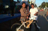 Mantap ! Pasar Wadai ini Bagikan Sepeda untuk Pengunjungnya
