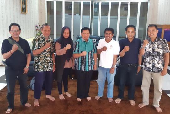 Pengurus SMSI Kalsel Audensi ke Walikota Banjarmasin