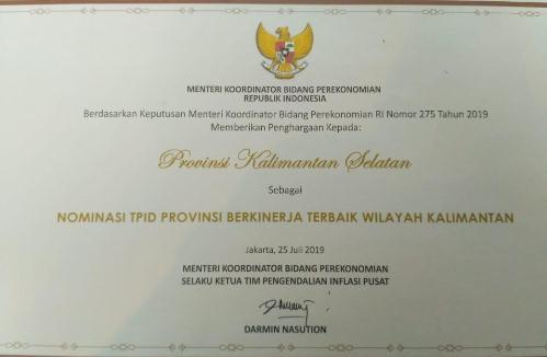 TPID Kalsel Terbaik di Kalimantan