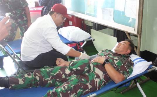 Donor Darah diperayaan HUT TNI AL ke-74