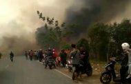Karhutla di Perbatasan Banjarbaru-Pelaihari Picu Kemacetan