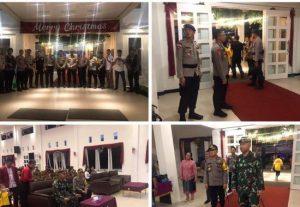 Polisi dan TNI Tanah Bumbu Cek Kondisi Pos Pengamanan Nataru