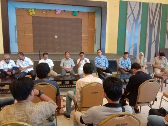 pengurus SMSI Kalsel saat audensi dengan Pemkot Banjarbaru beberapa waktu lalu