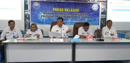 BNNP Kalsel Kesulitan Ungkap Kasus Narkoba Jaringan Lapas