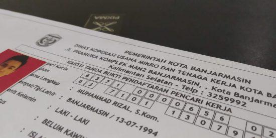 Pemohon Kartu Pencari Kerja di Banjarmasin Turun