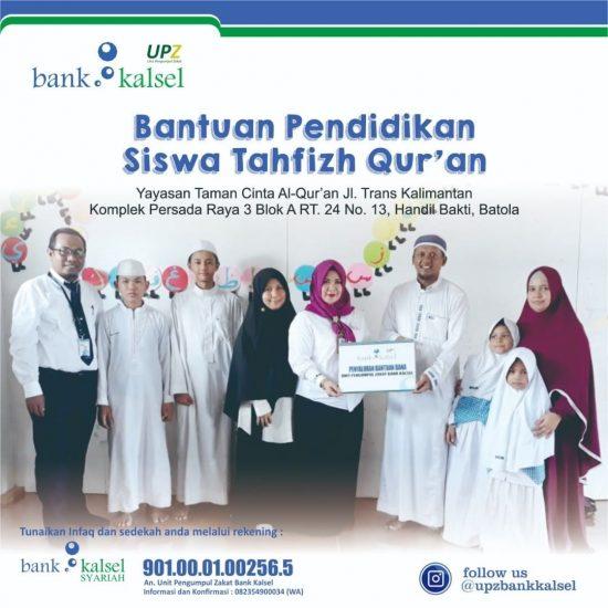 Bank Kalsel Peduli Santri Tahfizh Al Quran1