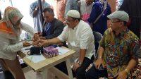 Ketua Umum KKB Pusat, Yuni Abdi Nur Sulaiman ikut memeriksakan kesehatan