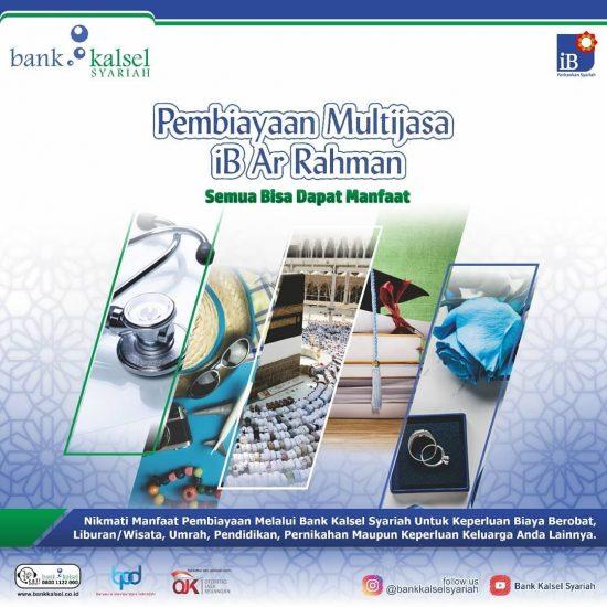Pembiayaan Multijasa iB Ar Rahman Bank Kalsel Syariah Diprioritaskan Untuk Masyarakat