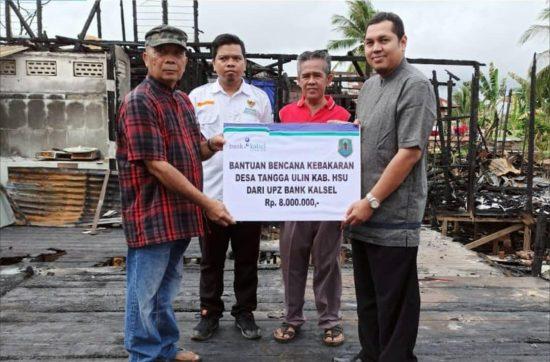 Aksi Peduli Kebakaran UPZ Bank Kalsel