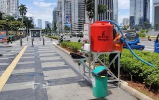 Cegah Corona, Jakarta Sebar Wastafel Portable dan Disinfektan