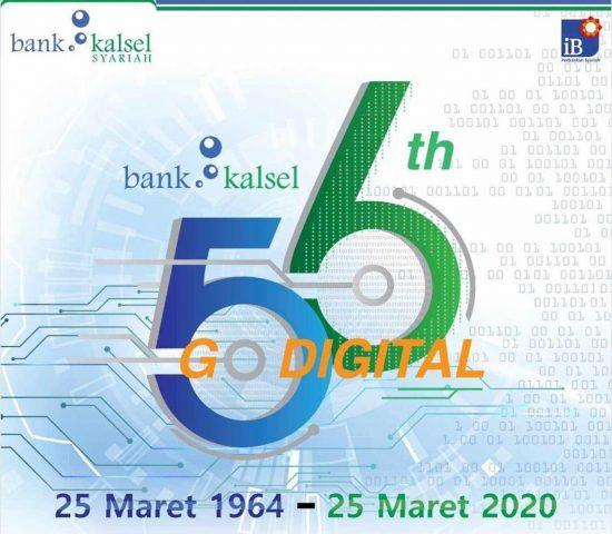 HUT ke 56, Bank Kalsel Angkat Tema 'Go Digital'