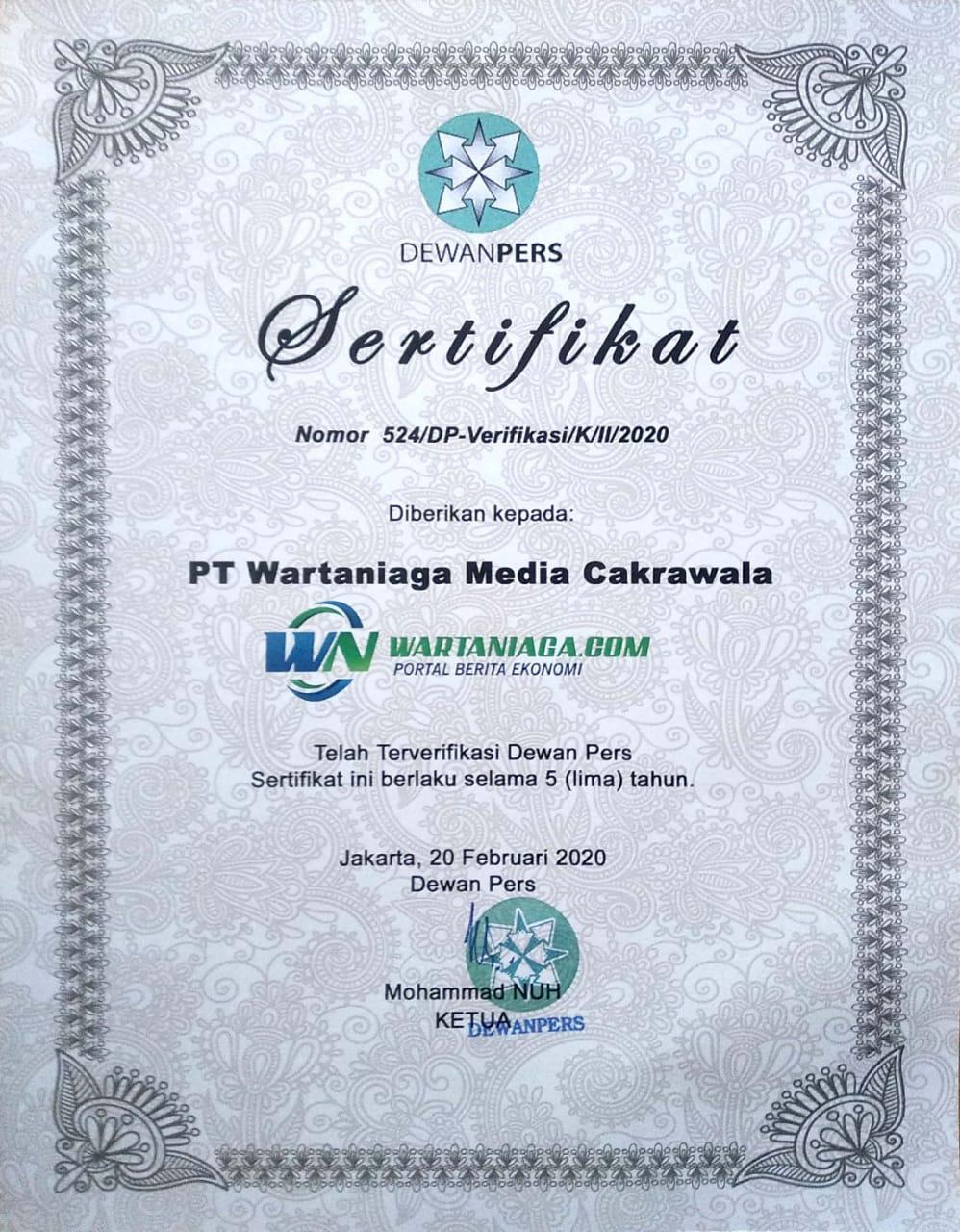sertifikat dewan pers