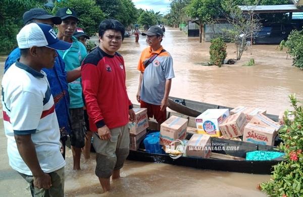 Baguna PDI-P Banjar Salurkan Bantuan di Desa Munggu Raya