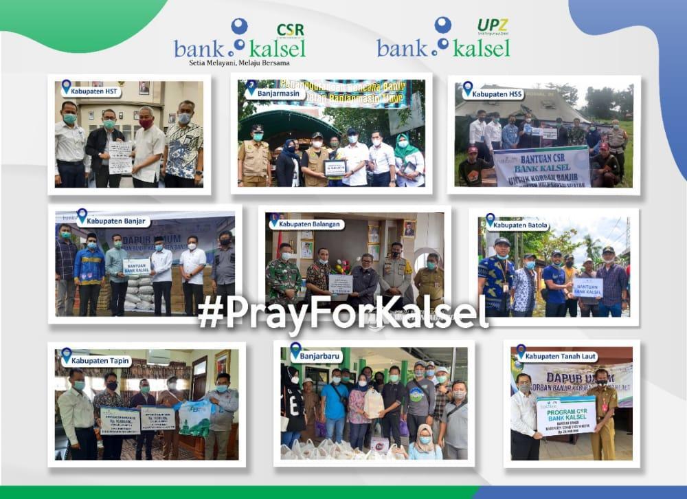 Bank Kalsel Gelontorkan Dana untuk Banjir Kalsel Melalui CSR dan UPZ