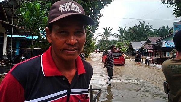 Sungai Balangan Meluap, Satu Desa di HSU Terendam