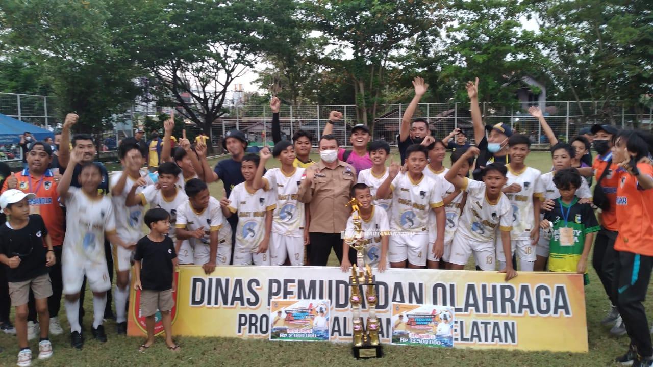 UPP Kintap Tala Rebut Gelar Juara Paman Birin Cup U14 2021
