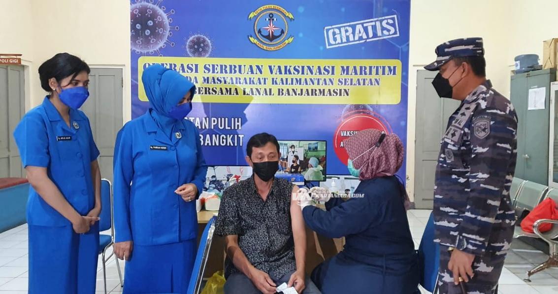 Percepat Sukseskan Program Pemerintah, Lanal Banjarmasin Gencarkan Servak Maritim