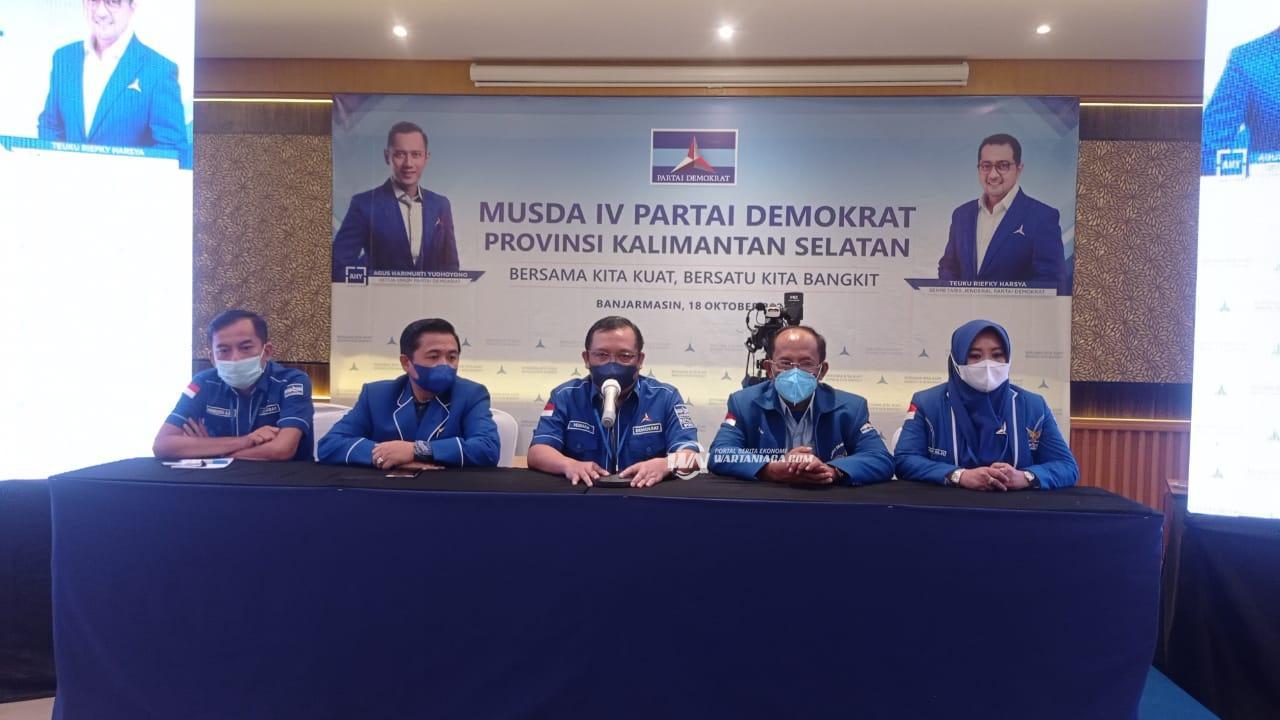 Musda IV Partai Demokrat Kalsel Hasilkan Dua Kandidat Calon Ketua